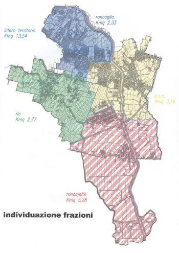 Suddivisione del territorio comunale in frazioni
